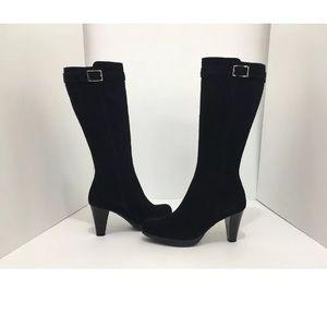 La canadienne Black Suede Waterproof Boots